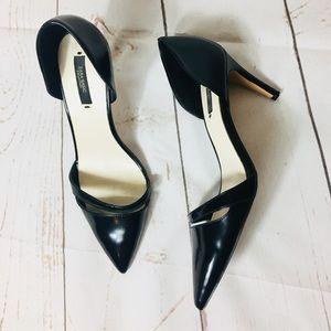 Zara Basic black cutout heels